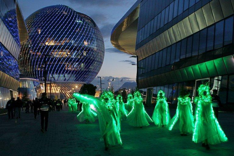 Dancers performing at Expo 2017 in Astana, Kazakhstan.