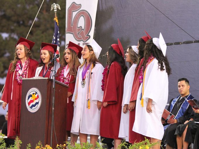 La Quinta High School graduates attended their graduation ceremony.