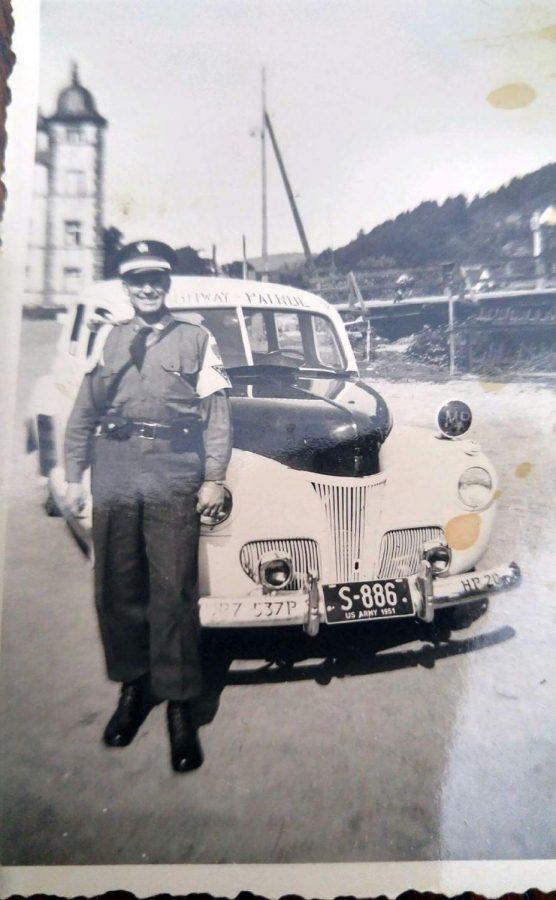 John Darnaby in military uniform.