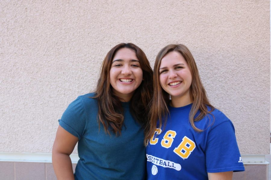 Laila Khan (left) Emily Maize (right)