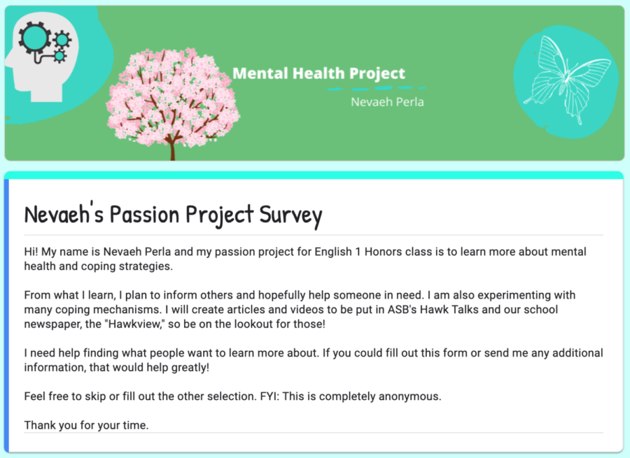 Passion project aims to educate peers on mental health