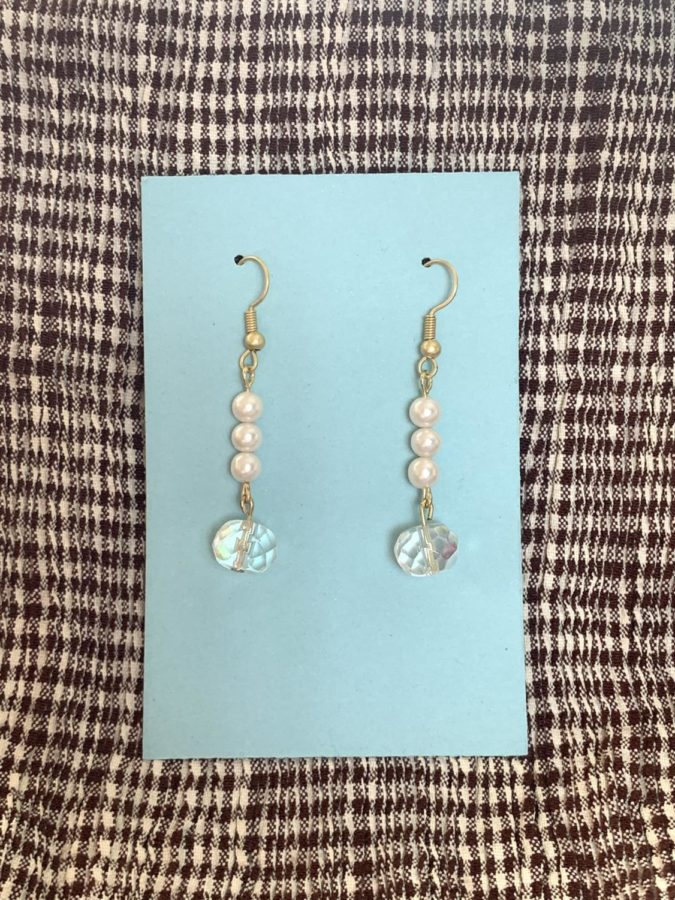 Earrings designed by Alicia Juarez.