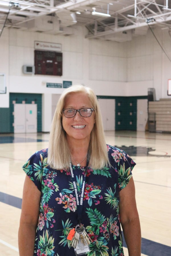 Kathryn Pedersen in the La Quinta High mini-gym on Thursday, June 3, 2021. She retired after the 2020-2021 school year.
