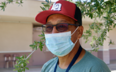 Richard Hernandez poses by the 500 wing building at La Quinta High. He retired in May 2020.